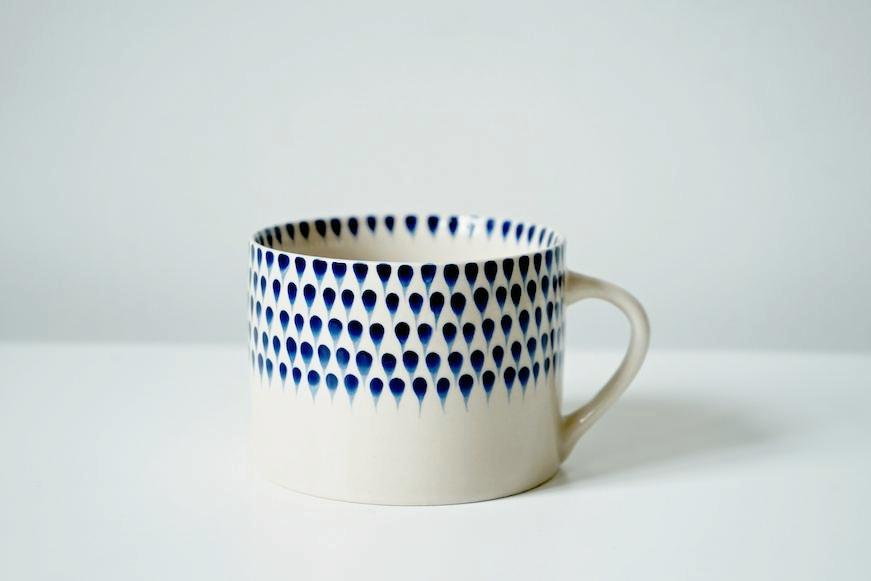 Dew Drop Indigo Wide Cup