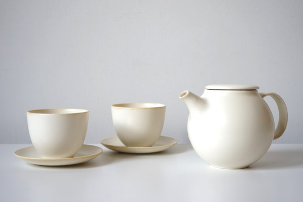 Pebble Tea Set - Winter White
