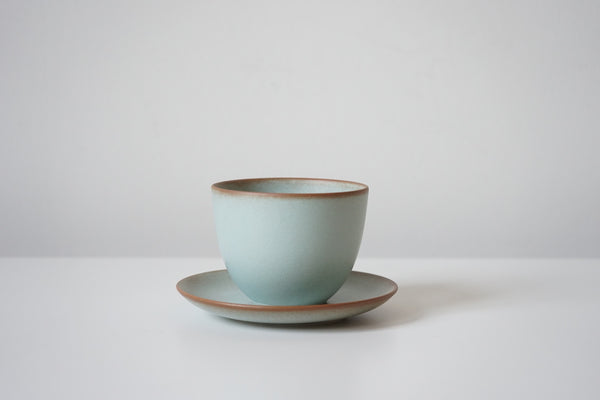 Pebble Cup + Saucer - Soft Turquoise