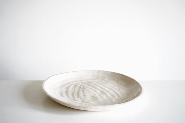 Stoneware Serving Plate cream