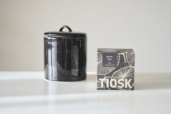 Nordic Coal Tea Caddy - Graphite