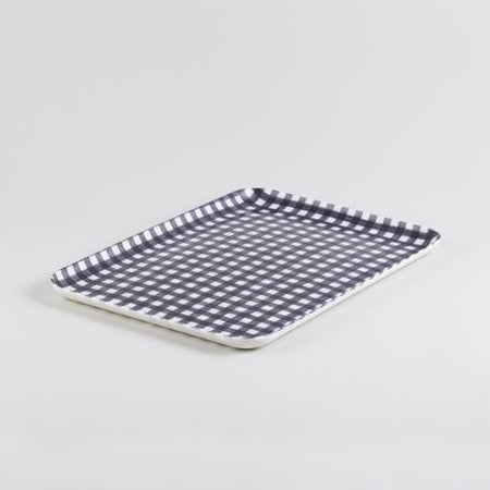 Coated Linen Tray - Midnight Check