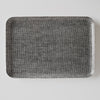 Coated Linen Tray - Hounds Tooth