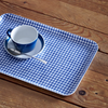 Coated Linen Tray - Blue Check