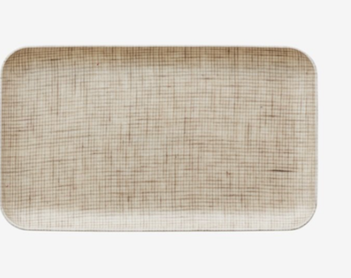 Coated Linen Tray - Natural check