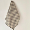 Linen Tea Towel - Natural with Check