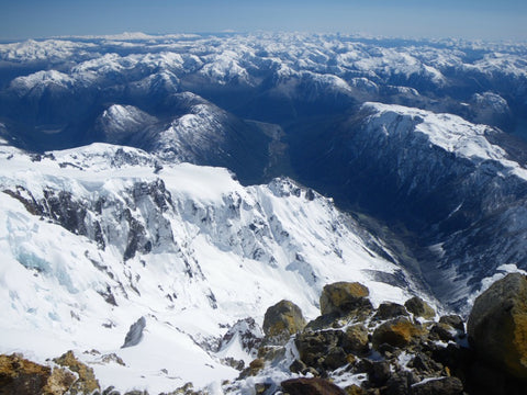 Looking north from the summit of Pico Argentino
