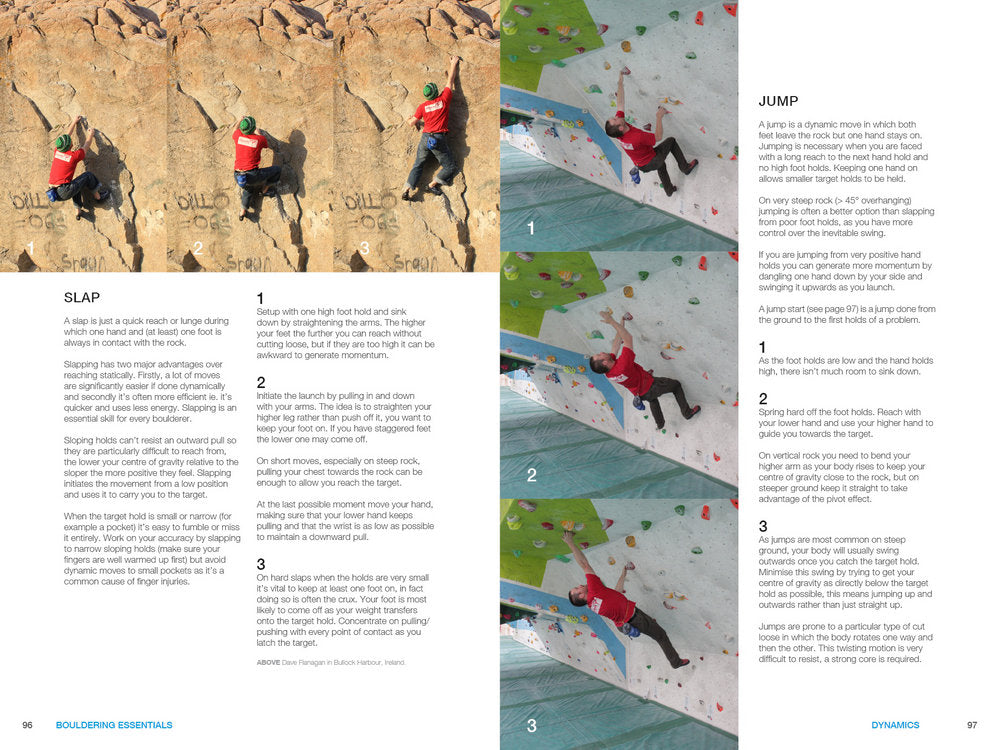 Bouldering Essentials - Sample Page (click to view)