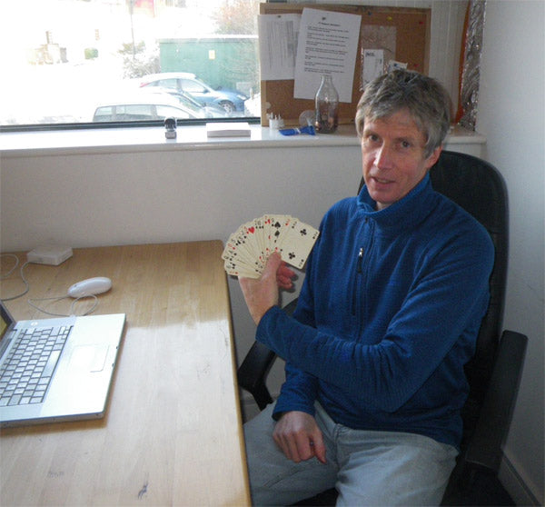 Andy Hyslop with cards