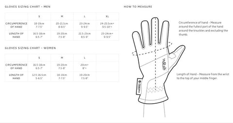 Rab Gloves Size Chart