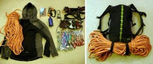 packed petzl bug