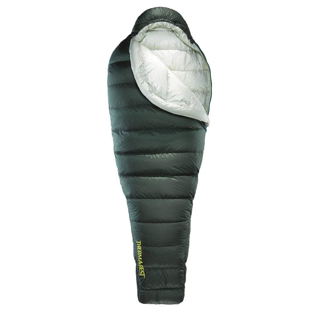 Thermarest Hyperion 32 UL in Dark green opened up