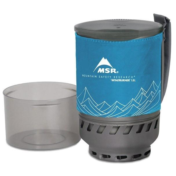 MSR Windburner Duo Accessory Pot 1.8L, in blue colour