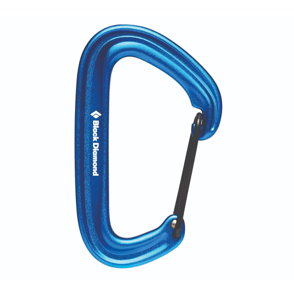 The Black Diamond LiteWire carabiner is the trad climber's choice, ideal to rack cams for easy identification, ultimately easing that send.