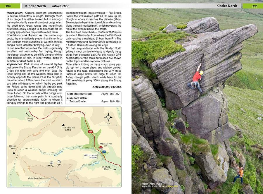 True Grit: Selected Climbs on Peak Grit guide, showing maps and topos