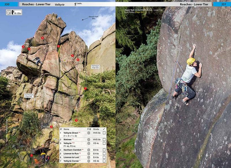 True Grit: Selected Climbs on Peak Grit guide, showing photo-topos