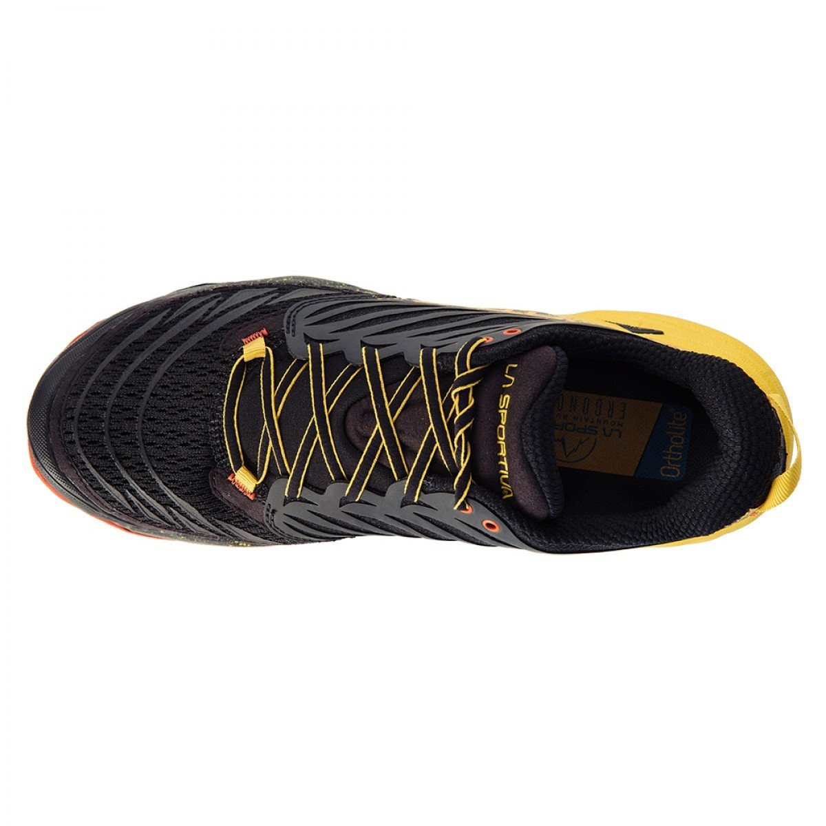 La Sportiva Akasha running shoe, view from above