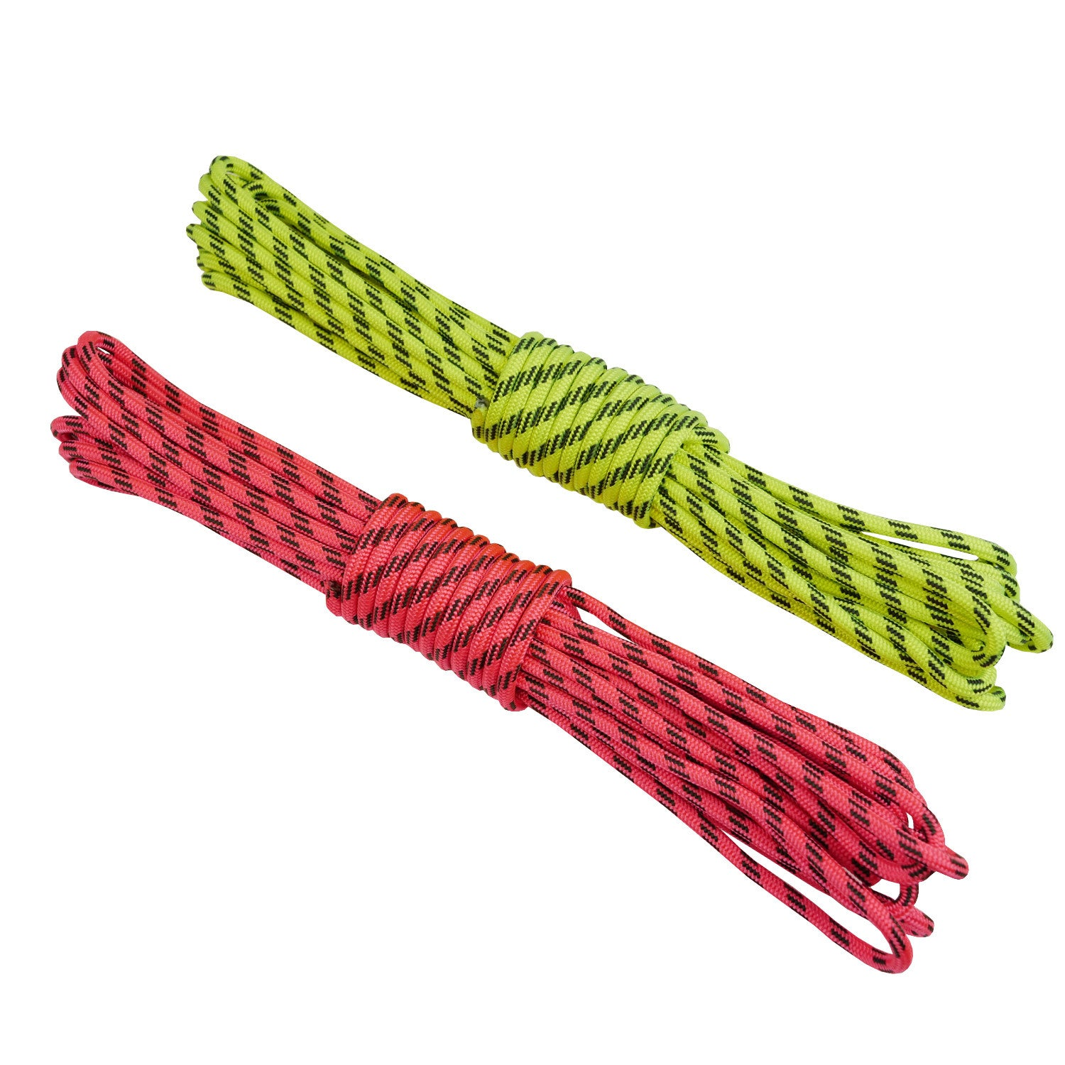 2 sets of Rock + Run Accessory cord 4mm yellow and pink