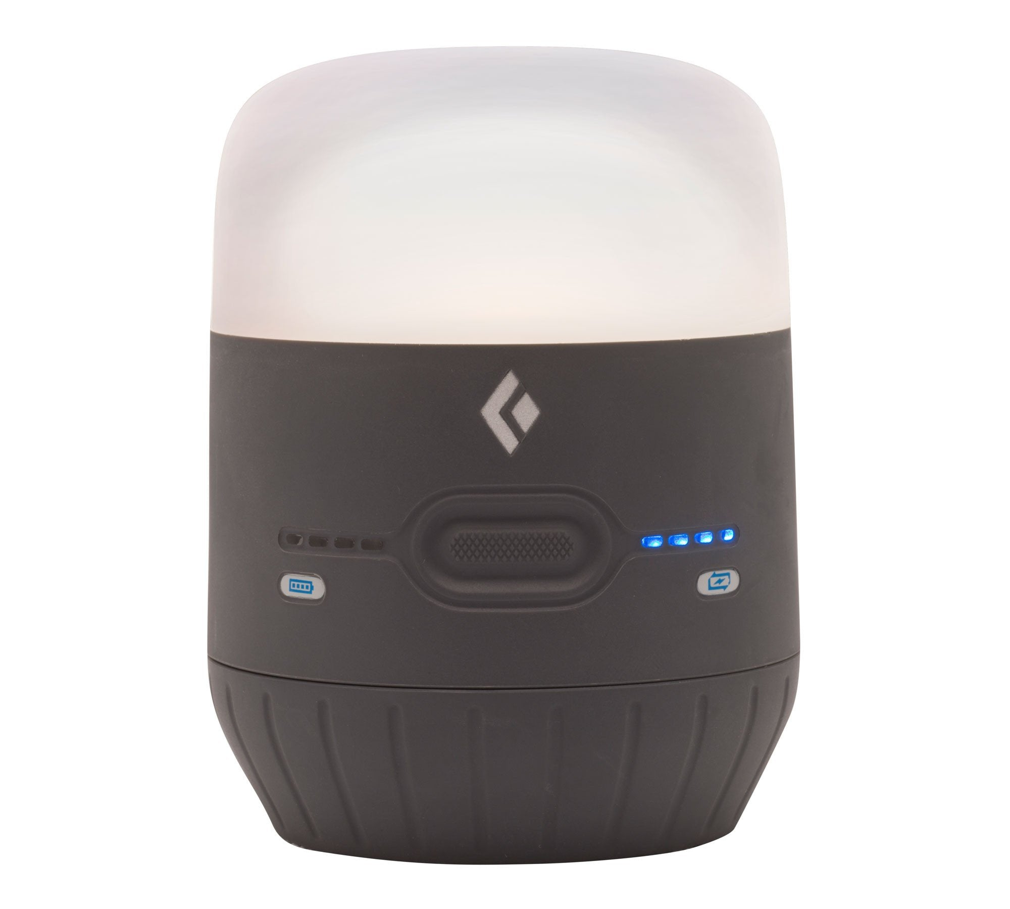 Black Diamond Moji Charging Station, camping Lantern shown in black/white colours