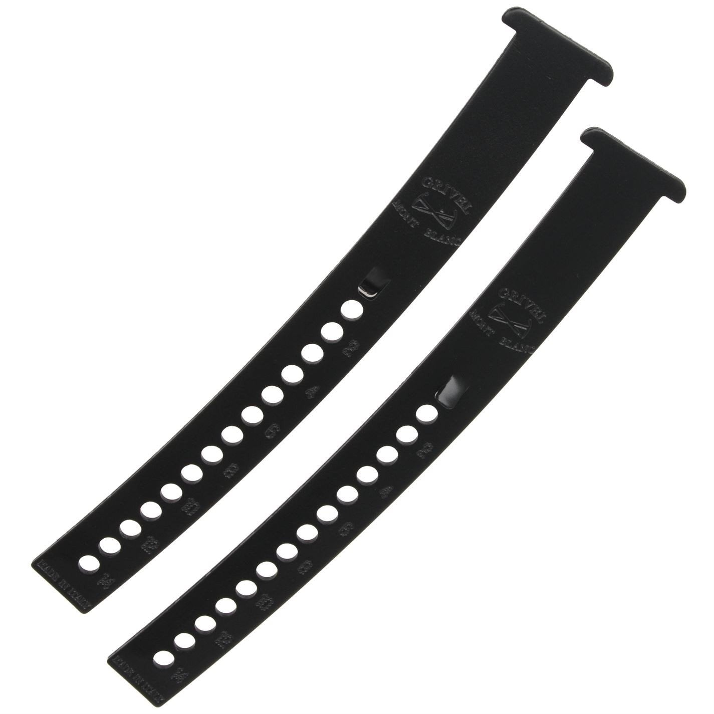 Grivel Long Extension Bar, pair shown side by side, in black colour.