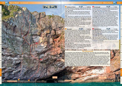 West Country Climbs guide, inside pages showing photos and topos