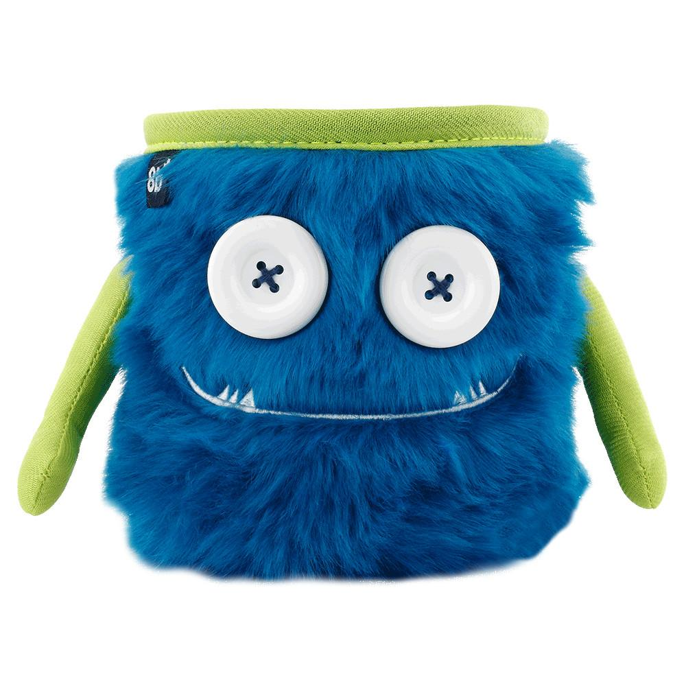 Front view of the 8BPlus Max Chalk Bag, in Blue and Green colours