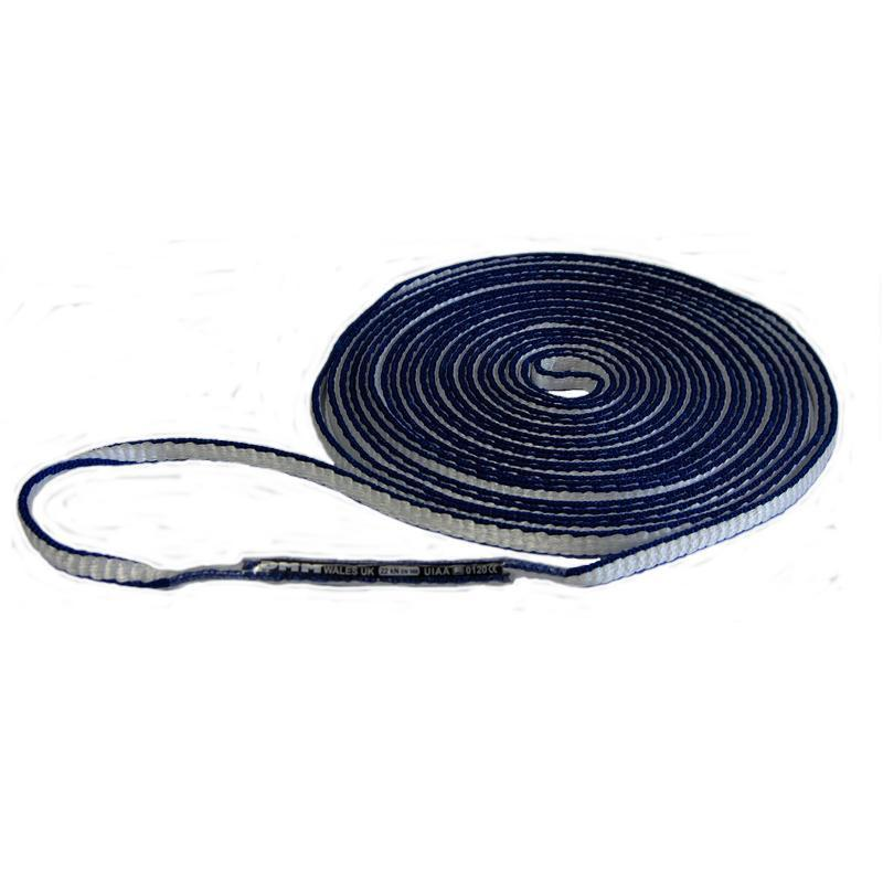 DMM Dyneema climbing sling 8mm x 400cm, shown coiled up