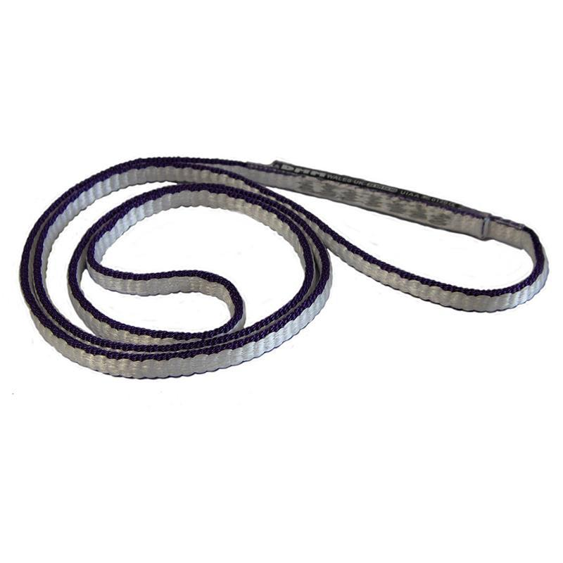 DMM Dyneema climbing Sling 8mm x 30cm, shown in black/white colours