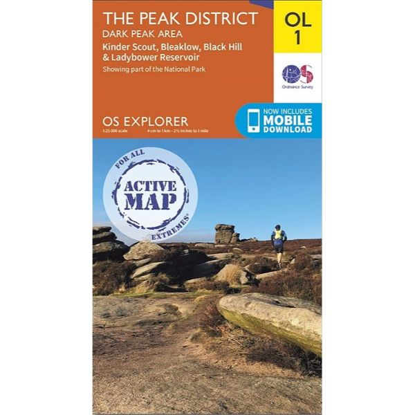 The Peak District - OS Explorer Map OL1 Active
