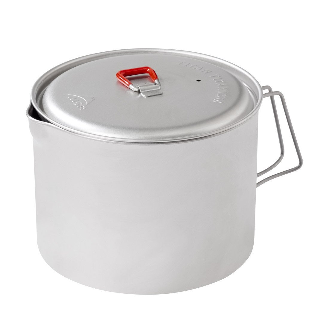 MSR Big Titan Kettle, camping cookware in silver colour
