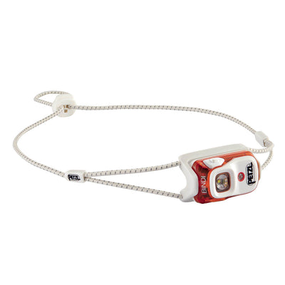 Petzl Bindi headlamp in Orange colour with grey strap