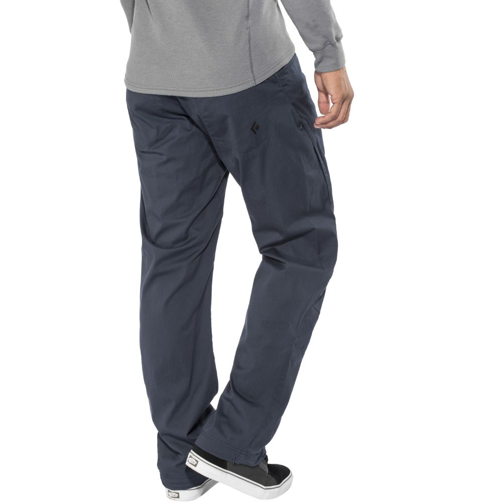 Black Diamond Credo Pants in captian dark blue modelled