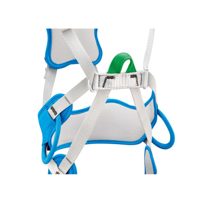 Petzl Ouistiti Kids Harness, close up detailing buckle design