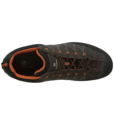 Scarpa Crux approach shoe, as seen from above