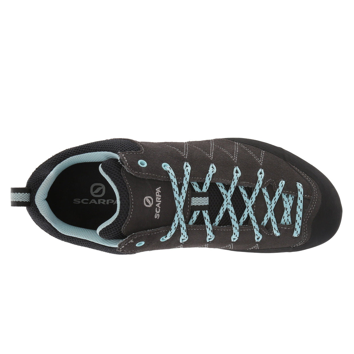 Scarpa Crux Womens approach shoe, as seen from above