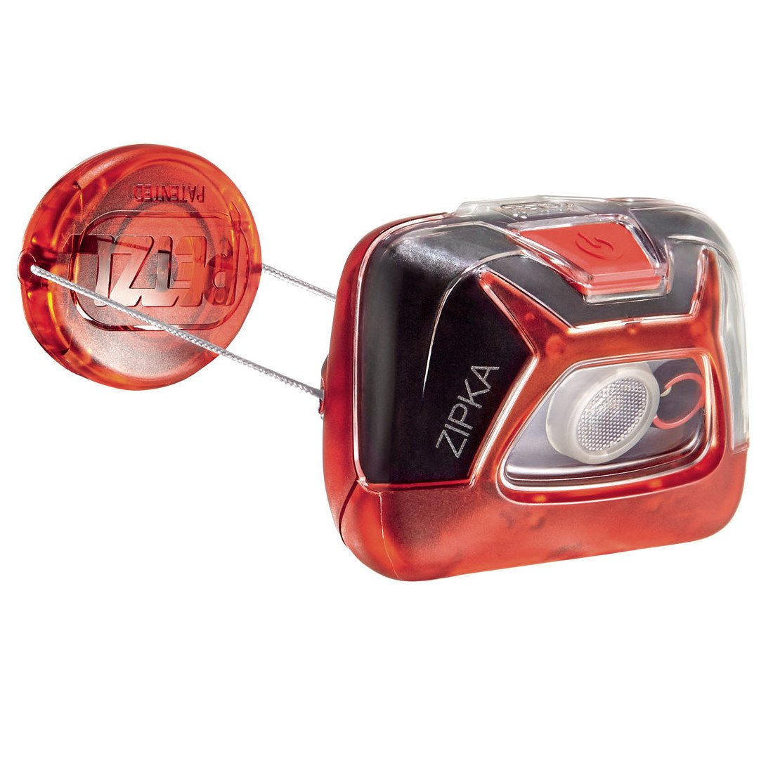 Petzl Zipka Head torch, in red colour
