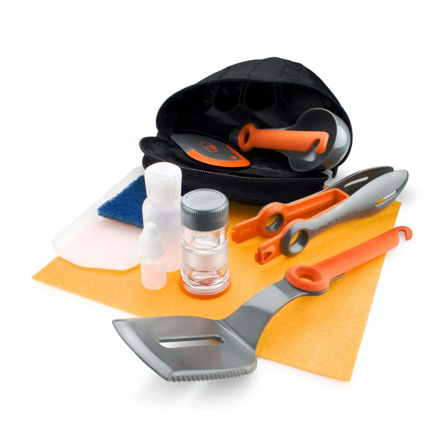 GSI Crossover Kitchen Kit, showing full contents in and outside the storage sack