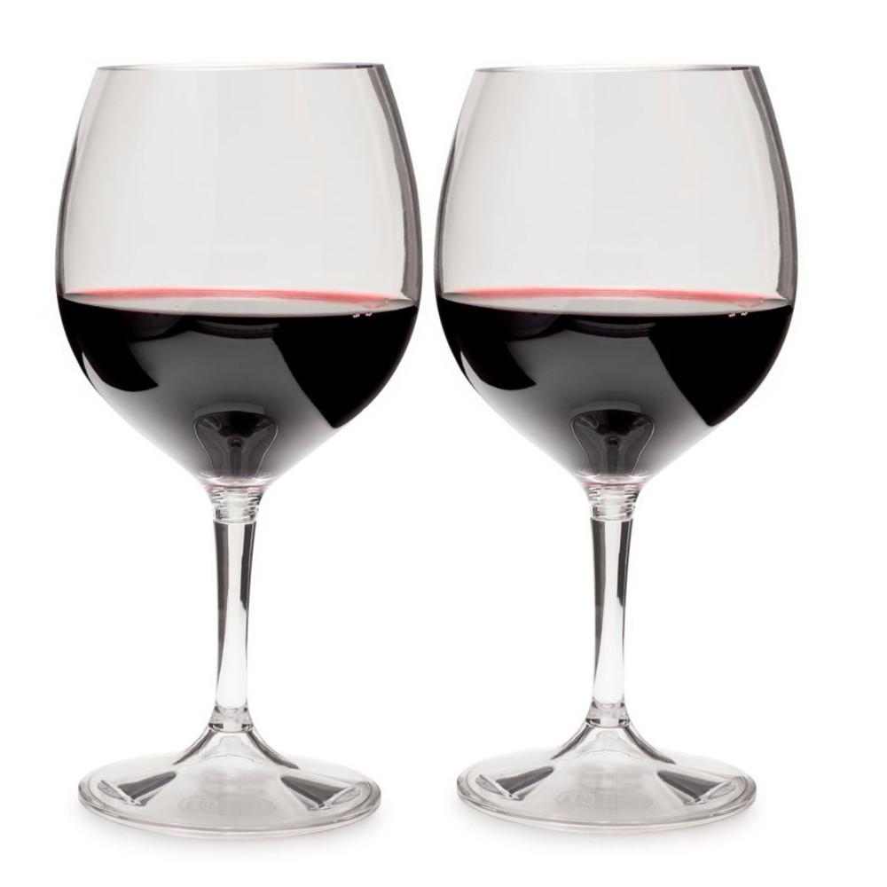 GSI Nesting Red Wine Glass Set x2 filled with wine