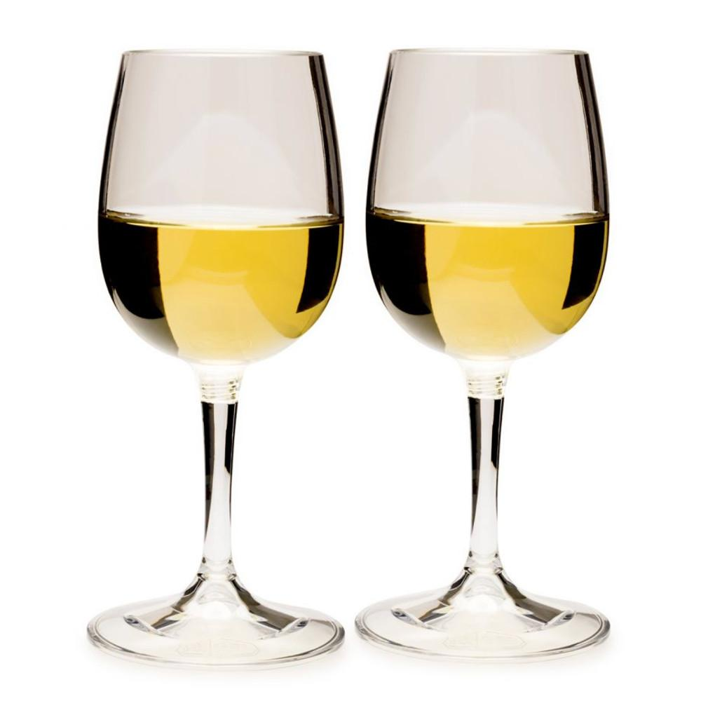 GSI Nesting Wine Glass Set x2 with white wine in glass