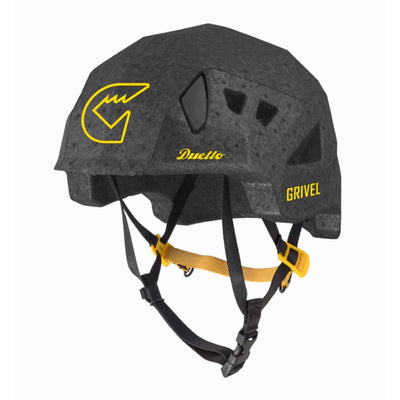 Grivel Duetto climbing and skiing helmet, front/side view in black colour