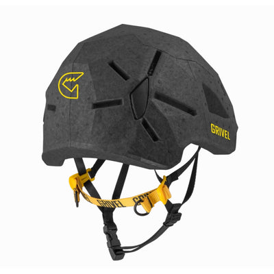 Grivel Duetto climbing and skiing helmet, rear/side view in black colour