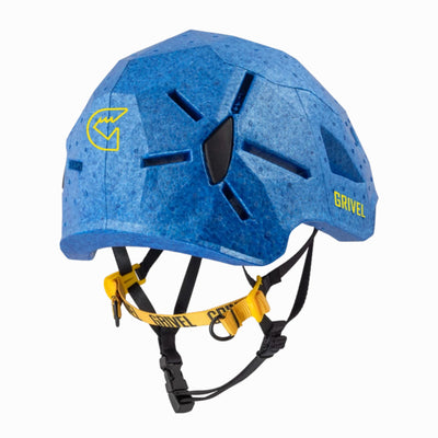 Grivel Duetto climbing and skiing helmet, rear/side view in Blue colour