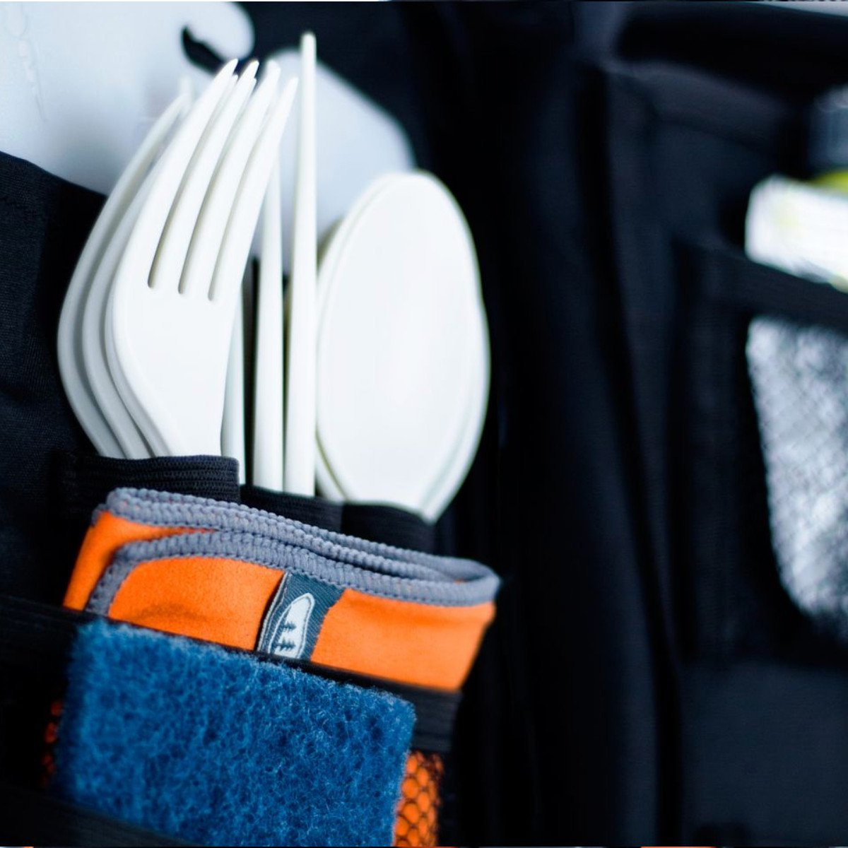 Camping cutlery inside the GSI Destination kitchen set