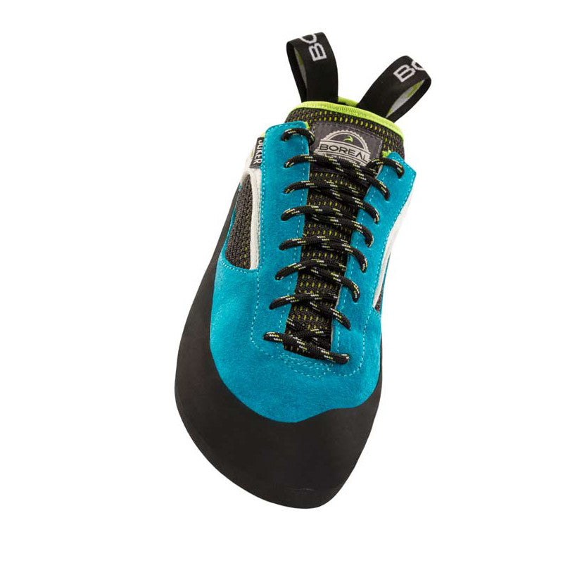Boreal Joker Lace Womens climbing shoe, view from front showing lace detail