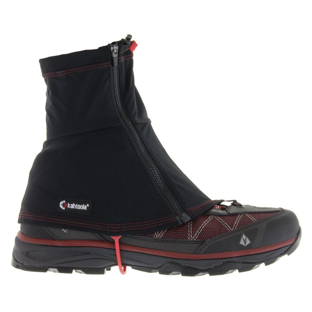 Kahtoola Insta Gaiter Gtx Mid, outer side view shown over shoe, in black colour