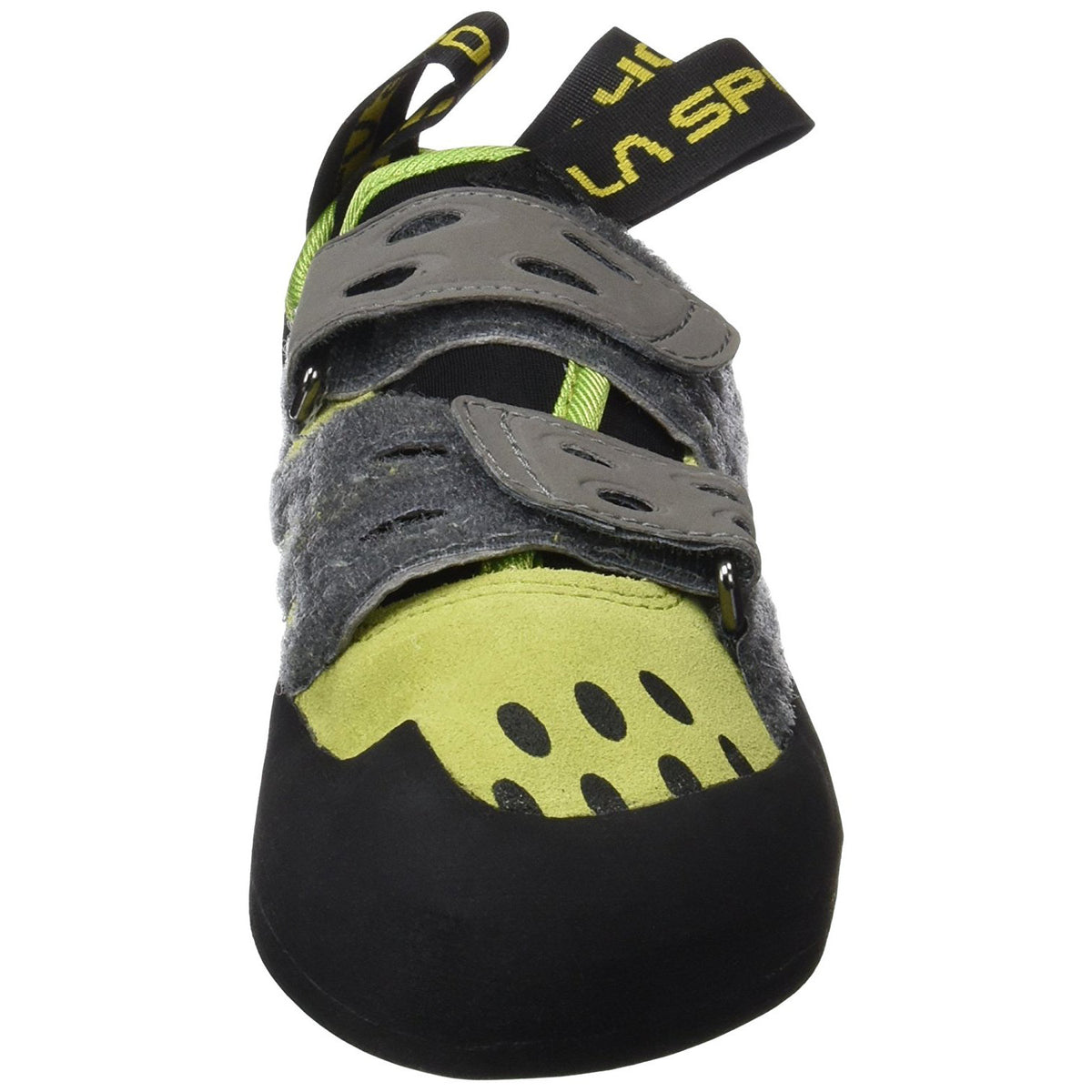 La Sportiva Tarantula climbign shoe, view from the front