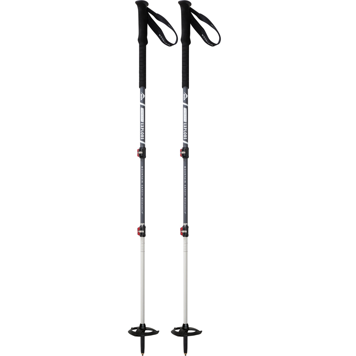 Pair of MSR Dynalock Explore trekking poles in Grey colour