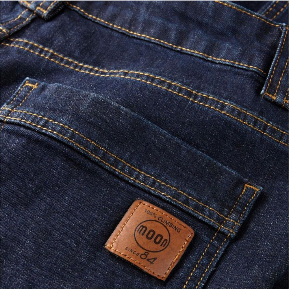 Rear Logo and pocket on Moon Hubble X Slim Fit Denim Climbing Jeans