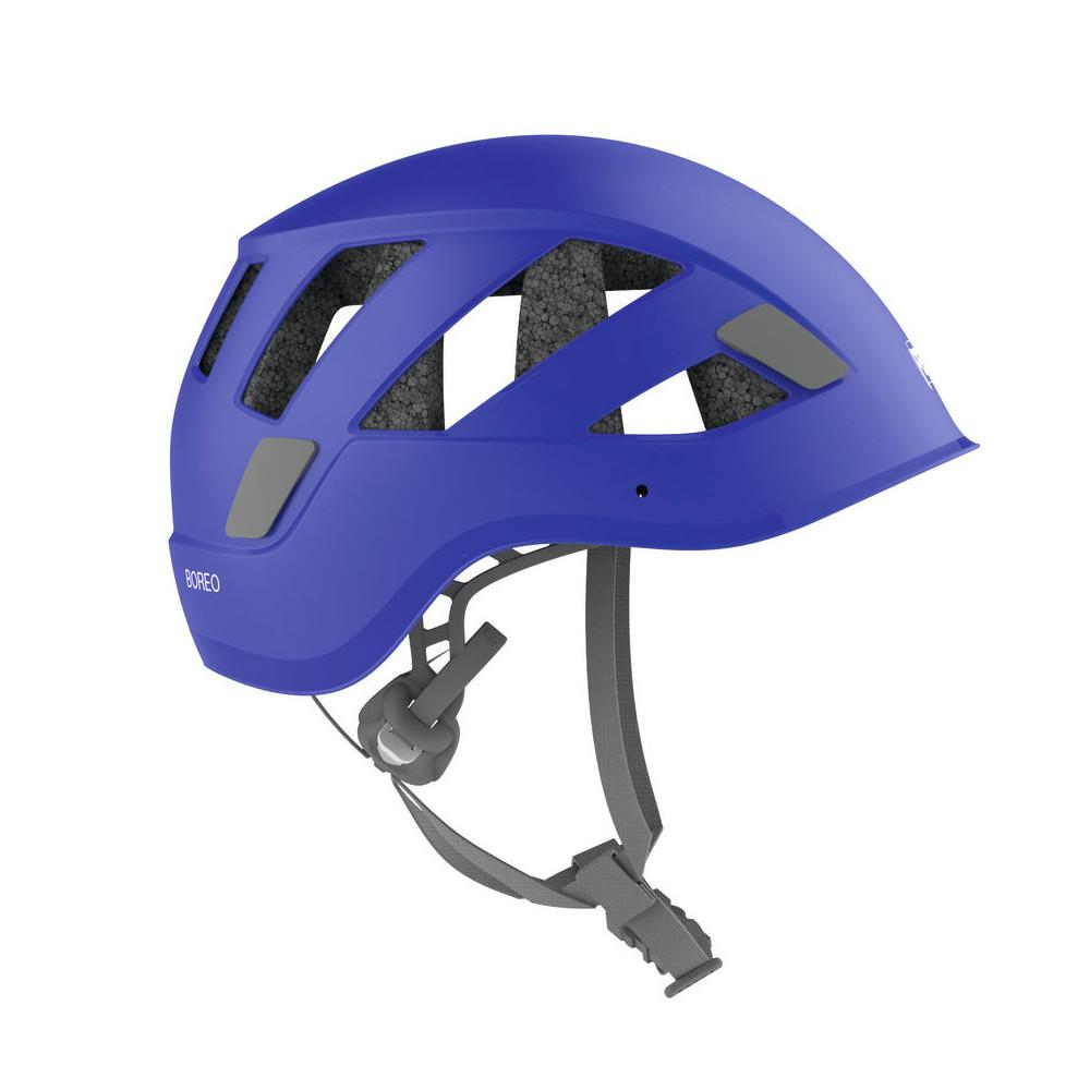 Petzl Boreo helmet, side view shown in blue colour