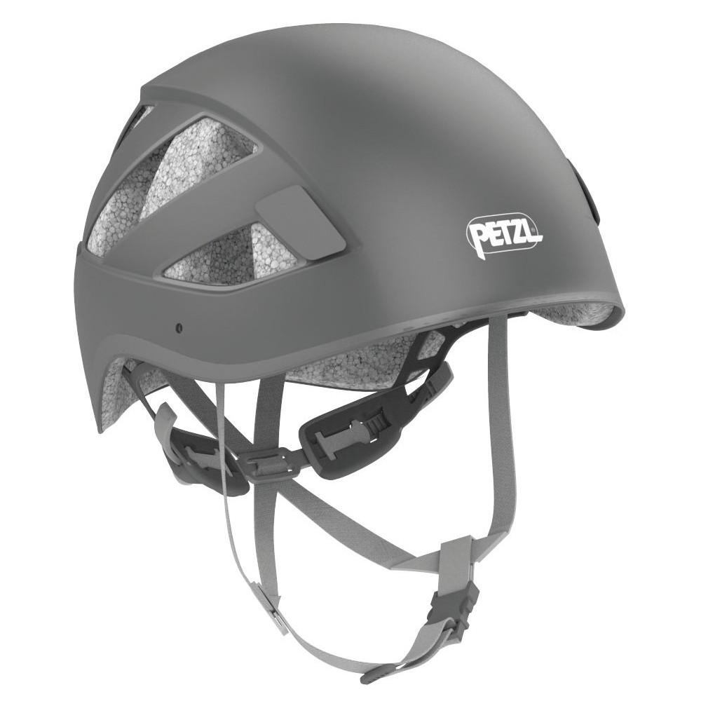 Petzl Boreo multi-activity helmet, front/side view shown in grey colour